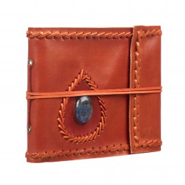 Small Stitched and Stoned Leather Album