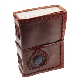 Small Stitched Stone Leather Journal