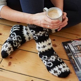 Woollen Makalu Socks - Black & White