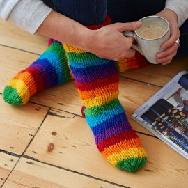 Woollen Rainbow Socks