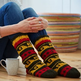 Woollen Annapurna Socks - Red & Yellow
