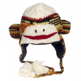 Stripey Monkey Woollen Animal Hat