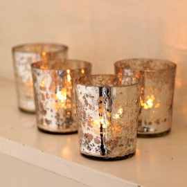 Antique Effect Glass Tea Light Holders