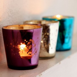 Coloured Tea Light Glasses