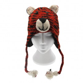 Tiger Woollen Animal Hat