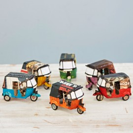 Recycled Newspaper Tuk Tuks