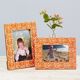 Fair Trade Vidya Orange Photo Frame