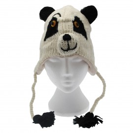 Panda Woollen Animal Hat