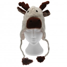 Reindeer Woollen Animal Hat