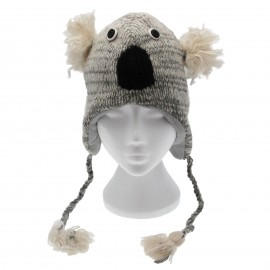 Grey Koala Woollen Animal Hat