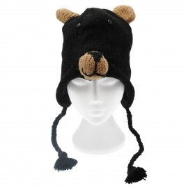 Black Bear Woollen Animal Hat
