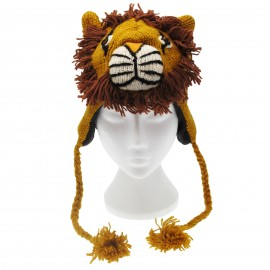 Lion Woollen Animal Hat