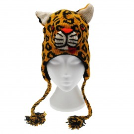 Leopard Woollen Animal Hat