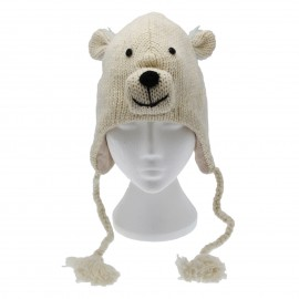 Polar Bear Woollen Animal Hat