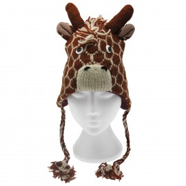 Giraffe Woollen Animal Hat