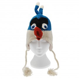 Blue Angry Birds Woollen Animal Hat