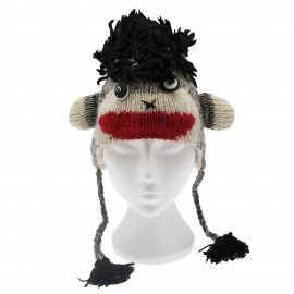 Crazy Monkey Woollen Animal Hat