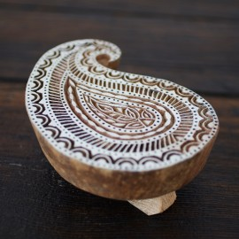 Paisley Design Wooden Block