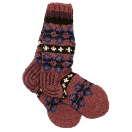 Woollen Makalu Socks - Purple & Red