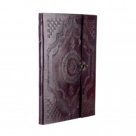 Indra Extra Large Embossed Leather Photo Album