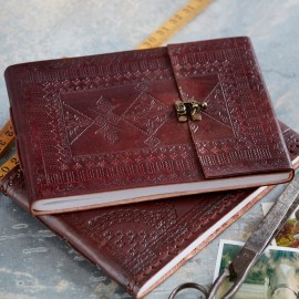 Indra Medium Embossed Leather Photo Album