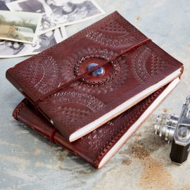 Indra Med Embossed Stoned Leather Album