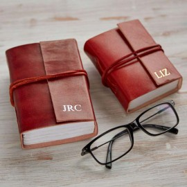 Personalised Mini and Small Leather Journals