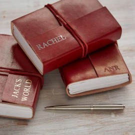 Personalised Medium Leather Bound Journal