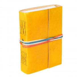 Leather 3-string Yellow leather journal OTN