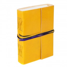 Leather 3-string Lemon leather journal