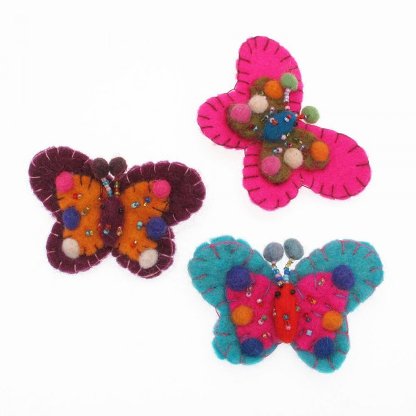 String of Paper Butterflies Handmade Paper Fair Trade Colourful Decoration