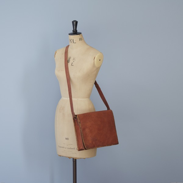 Paper High Mens Leather Courier//Messenger Bag