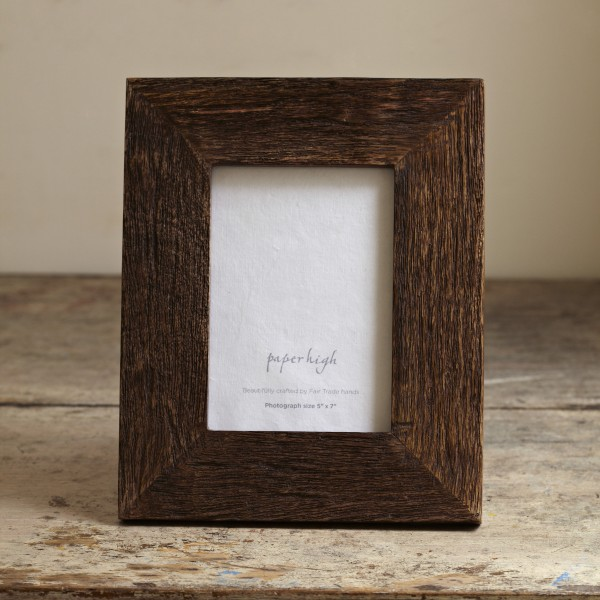 Natural Wood Rustic Photo Frame Paper High