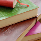 Coloured leather journals