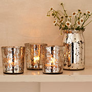 T lights votive and vases